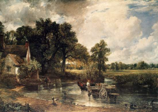 John Constable, <em>The Hay Wain</em> (1821)                             border=